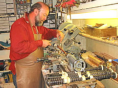 Chris McNeilly at his lathe
